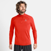 Men's ZEROWEIGHT CERAMIWARM Half-Zip Long-Sleeve Midlayer Top, orange.com, large