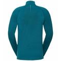 Men's MILLENNIUM YAKWARM Half-Zip Long-Sleeve Mid Layer Top, tumultuous sea melange, large