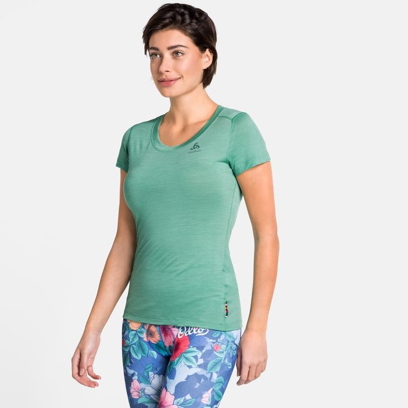 Damen NATURAL + LIGHT Base Layer T-Shirt, creme de menthe, large