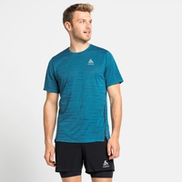 T-shirt de running ZEROWEIGHT ENGINEERED CHILL-TEC pour homme, mykonos blue melange, large