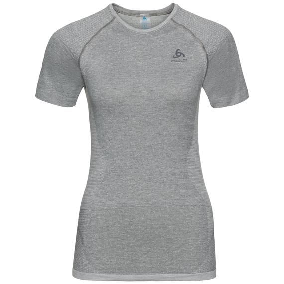 Damen HIKE Funktionsunterwäsche T-Shirt, grey melange, large