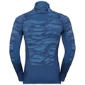 Men's BLACKCOMB Long-Sleeve Base Layer Top with Face Mask, estate blue - directoire blue - directoire blue, large