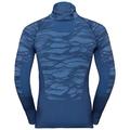 Herren BLACKCOMB Funktionsunterwäsche Langarm-Shirt mit Gesichtsmaske, estate blue - directoire blue - directoire blue, large
