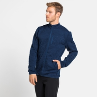 Men's CORVIGLIA KINSHIP Midlayer Top, estate blue, large