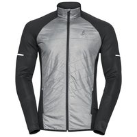 Jacket IRBIS HYBRID Seamless X-Warm, black - odlo concrete grey, large