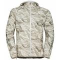 Veste imperméable FLI 2.5L pour homme, silver cloud - paper print, large