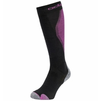 Unisex ACTIVE WARM PRO Skisocken, black - hyacinth violet, large