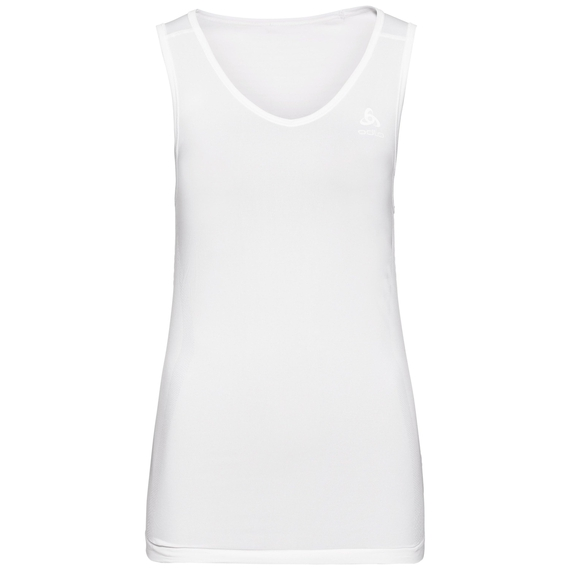 Women's PERFORMANCE X-LIGHT V-Neck Base Layer Singlet, white, large