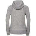 Hoody midlayer full zip Core, grey melange, large