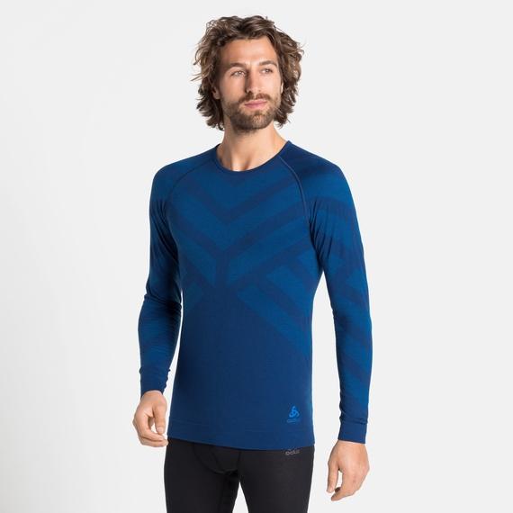 Men's NATURAL + KINSHIP WARM Long-Sleeve Baselayer, estate blue melange, large