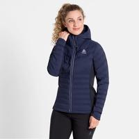 Geïsoleerde SARA COCOON-jas voor dames, diving navy, large