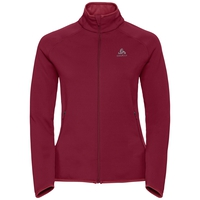 Midlayer full zip CARVE Warm, rumba red, large