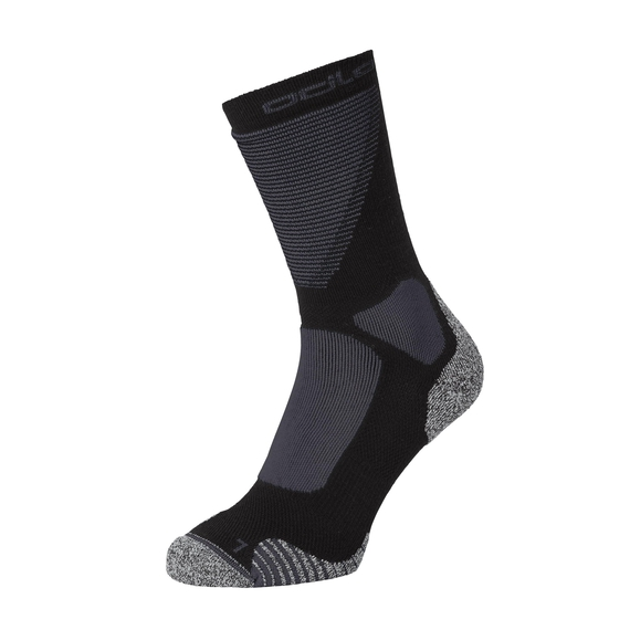 CERAMIWARM XC Crew Socks, black - odlo graphite grey, large