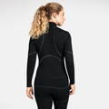Women's ACTIVE X-WARM 1/2 Zip Turtle-Neck Long-Sleeve Base Layer Top, black, large
