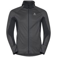Men's BLAZE CERAMIWARM Midlayer Hoody, black - odlo graphite grey - stripes, large