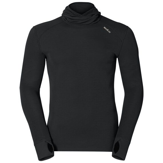 Shirt l/s with Facemask ACTIVE ORIGINALS Warm, black, large