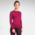 Women's PERFORMANCE WARM Long-Sleeve Base Layer Top, cerise - decadent chocolate, large