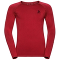 Shirt l/s crew neck ESSENTIALS Seamless Light, chinese red - black, large