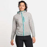 FLI WINDPROOF DWR-jas voor dames, odlo silver grey, large