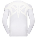 Men's ACTIVE SPINE LIGHT Long Sleeve Base Layer Top, white, large