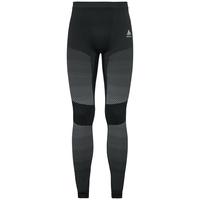 Pants ESSENTIALS seamless WARM - boxed, black - odlo concrete grey, large
