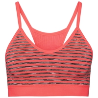SEAMLESS SOFT Sport-BH, fiery coral - grey melange, large