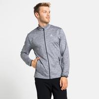 Men's ALAGNA Full-Zip Midlayer Top, grey melange, large
