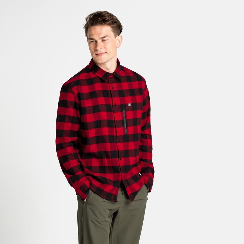 Halden Langarm-Shirt, black - tango red, large