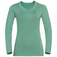 Women's NATURAL + LIGHT Long-Sleeve Base Layer Top, creme de menthe, large