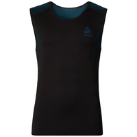 SUW TOP Crew neck Singlet PERFORMANCE Essentials LIGHT, black - blue jewel, large