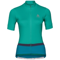 FUJIN cycling jersey women, pool green - crystal teal, large