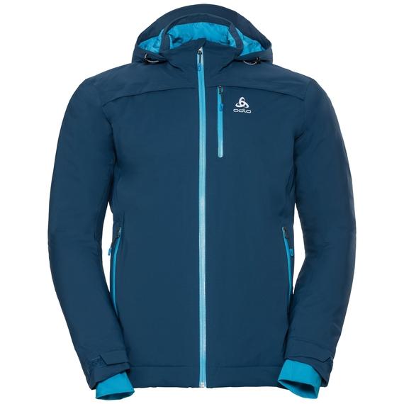 Jacket insulated FLOW COCOON ZW WATERPROOF, poseidon, large