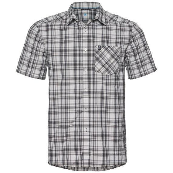 Shirt s/s MYTHEN, white - odlo graphite grey - odlo concrete grey - check, large