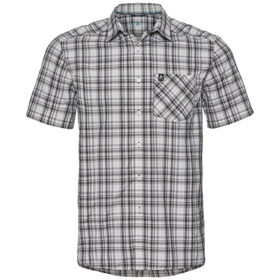Shirt MYTHEN, white - odlo graphite grey - odlo concrete grey - check, large