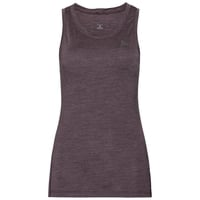 Women's NATURAL + LIGHT Base Layer Singlet, plum perfect - quail, large