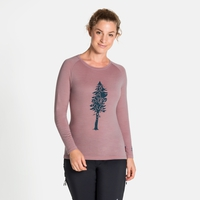 Women's ALLIANCE Long-Sleeve Top, woodrose - pine print, large