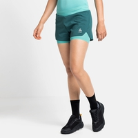 Damen ZEROWEIGHT 2-in-1 Shorts, balsam - jaded, large