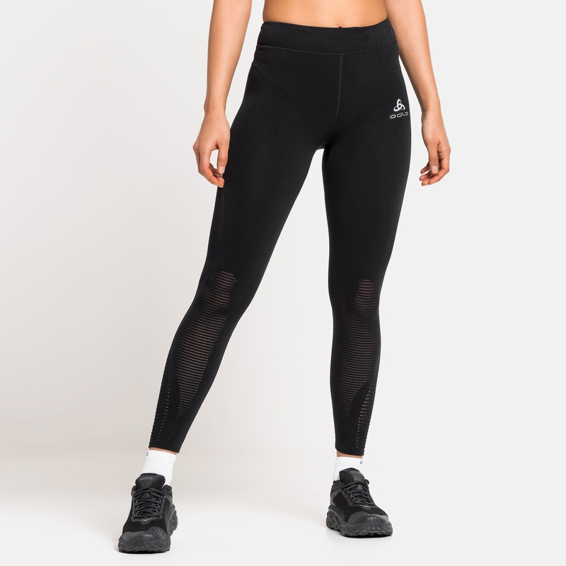 Damen ZEROWEIGHT WARP Lauftights, black, large