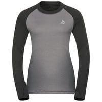 SVS top col ras du cou manches longues active Revelstoke Warm, odlo graphite grey - odlo concrete grey, large