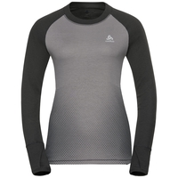 SUW Top Crew neck l/s ACTIVE  Revelstoke Warm, odlo graphite grey - odlo concrete grey, large