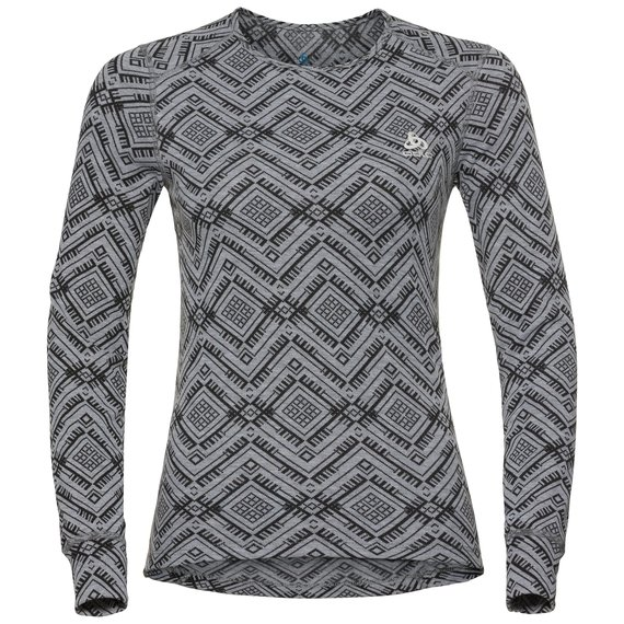 SVS top col ras du cou manches longues active Warm Kinship, grey melange, large