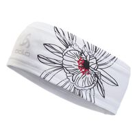 POLYKNIT LIGHT Headband unisex, white - print, large