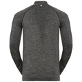 Midlayer 1/2 zip IRBIS Warm, black - odlo steel grey, large