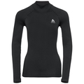 T-shirt l/s crew neck Ceramiwarm, black, large