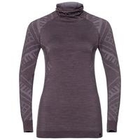 Damen NATURAL + KINSHIP WARM Funktionsunterwäsche Langarm-Shirt mit Gesichtsmaske, vintage violet melange, large