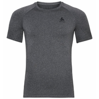 Men's PERFORMANCE WARM ECO Baselayer T-Shirt, grey melange - black, large