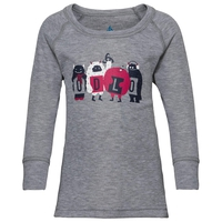 SUW Top Active Originals Warm TREND KIDS (klein) langärmeliges Oberteil mit Rundhalsausschnitt, grey melange, large