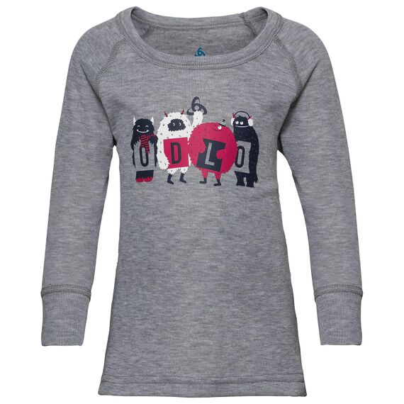 Naadloze onderkleding top met Ronde hals l/m active originals Warm TREND KIDS (klein), grey melange, large