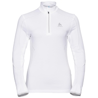 Midlayer 1/2 zip LA MOLINA, white, large