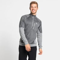 Men's MILLENNIUM YAKWARM 1/2 Zip Midlayer, grey melange, large